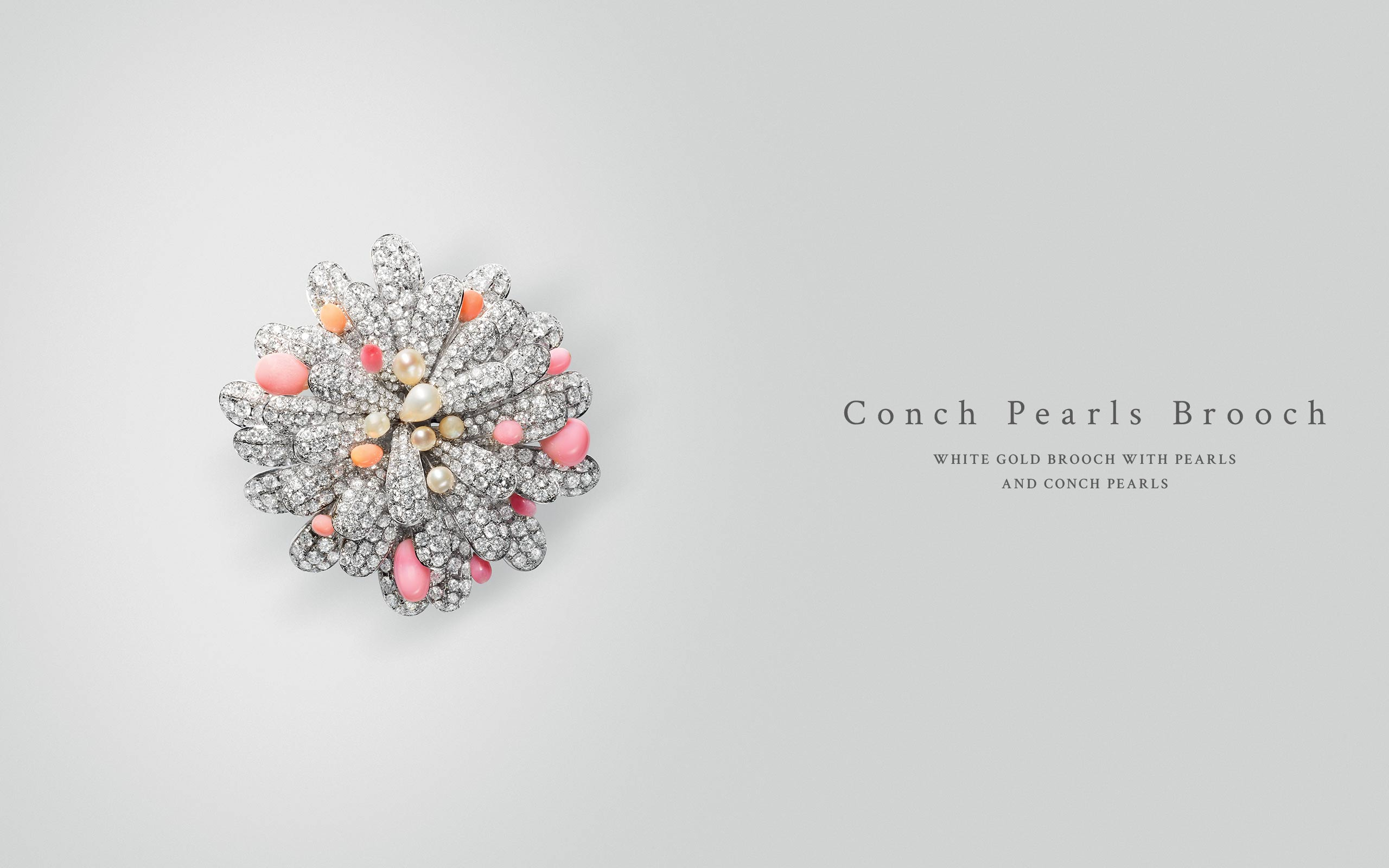 Conch Pearls Brooch 09 | Maria Gaspari